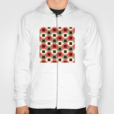Hexagon pattern (red) Hoody