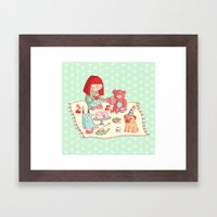 Tea party! Framed Art Print