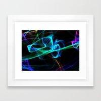 Blue Smoke Framed Art Print