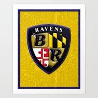 Baltimore Ravens Logo Art Print