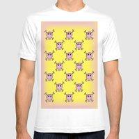Pink Lemonade Punk Skull… Mens Fitted Tee White SMALL