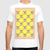 Pink Lemonade Punk Skull… Mens Fitted Tee White SMALL