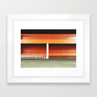 carts in night Framed Art Print