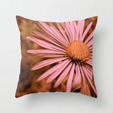 Pink as a Petal Throw Pillow