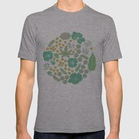 Floral Bloom  Mens Fitted Tee Athletic Grey SMALL
