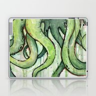 Cthulhu Green Tentacles Laptop & iPad Skin