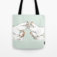 Chicken Fight Tote Bag