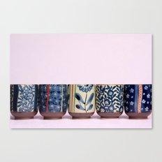 Japanese teacups Canvas Print