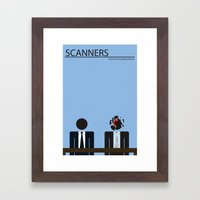 Scanners - Altenative Movie Poster Framed Art Print