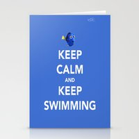 Keep Calm And Keep Swimm… Stationery Cards