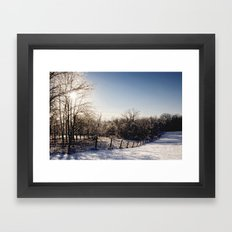 Frozen Countryside Framed Art Print