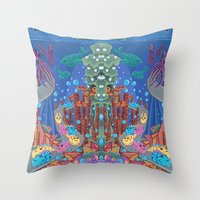 Underwater Parade Throw Pillow