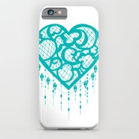 Heart-Catcher Teal iPhone 6 Slim Case