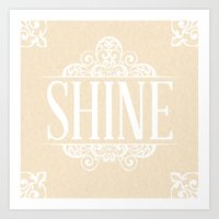 Shine & Lace Art Print