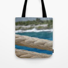 Rope by the sea Tote Bag