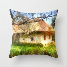 old Ukrainian house  Throw Pillow
