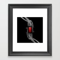 skeleton key Framed Art Print