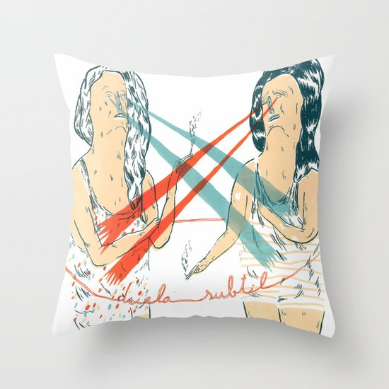 subtle duel Throw Pillow