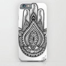 Hamsa hand Illustration (Evil Eye) protection/good luck - By Ashley Rose Standish iPhone 6 Slim Case