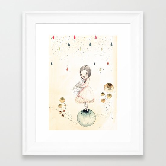 sofi and the owlo Framed Art Print
