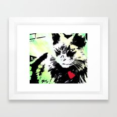 Key lime kitty Framed Art Print