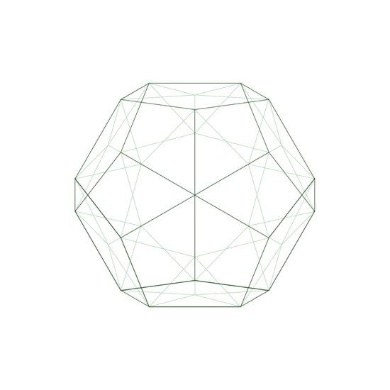 #354 Dodecahedron – Geometry Daily Art Print