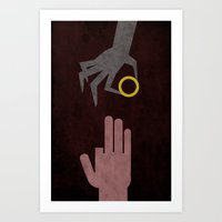 Lord of the Rings Minimalist Posters: King Art Print