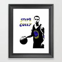 Stephen Curry Golden Sta… Framed Art Print