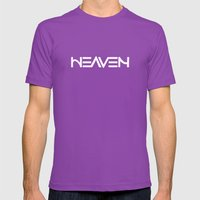 Heaven - Ambigram Series… Mens Fitted Tee Ultraviolet SMALL