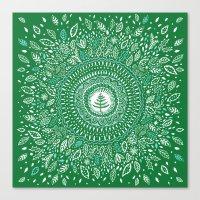 Christmas Tree Mandala Canvas Print