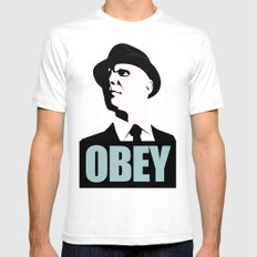 OBEY (Fringe) SMALL White Mens Fitted Tee