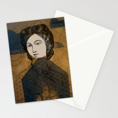 Coiffure for a young lady Stationery Cards