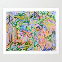 Colorz Of Ze Wind Art Print