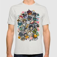 Overcute Mens Fitted Tee Silver SMALL