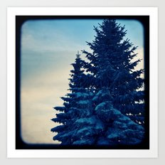 blue winter sky Art Print