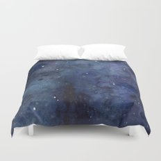 Night Sky Stars Galaxy | Watercolor Duvet Cover