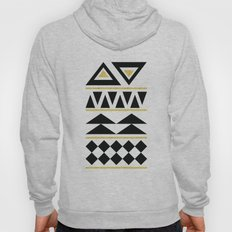 Black And Gold Pattern T… Hoody