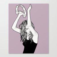 Ms. Tambourine Canvas Print