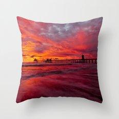 Surf City Sunset 11/20/14 Throw Pillow