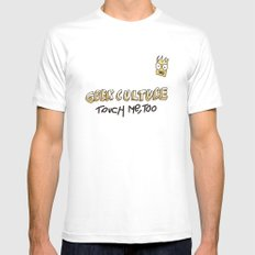 Geek culture / touch me, too Mens Fitted Tee White SMALL