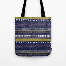 Dark Blue Pattern Tote Bag