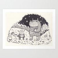 Gruffalo Art Print