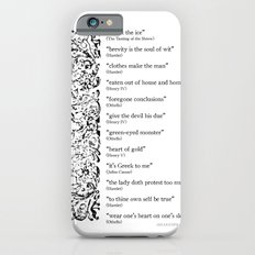 Words Words Words - William Shakespeare Quotations print Slim Case iPhone 6s
