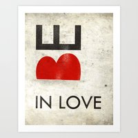 BE IN LOVE Art Print