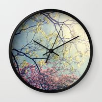 The Song Of A Spring Sky Wall Clock