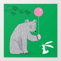 The Bear and The Bunny Canvas Print