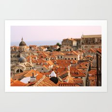 Dubrovnik, Croatia. Sunset. Art Print