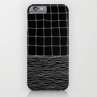 iPhone Cases featuring Hand Drawn Grid by Georgiana Paraschiv