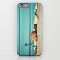 iPhone & iPod Case featuring Beach Hut Stones by Gisele Morgan