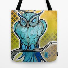 Blue Owl Tote Bag
